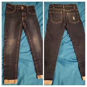 Little girls sz 4 Polo skinny jeans